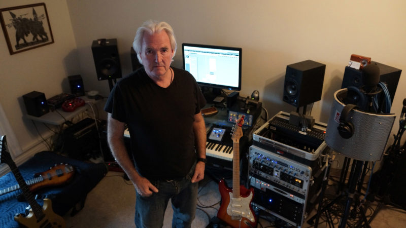 Derek Mason, Vancouver Music Producer, in his last studio, Beach Avenue - Nov. 10, 2014