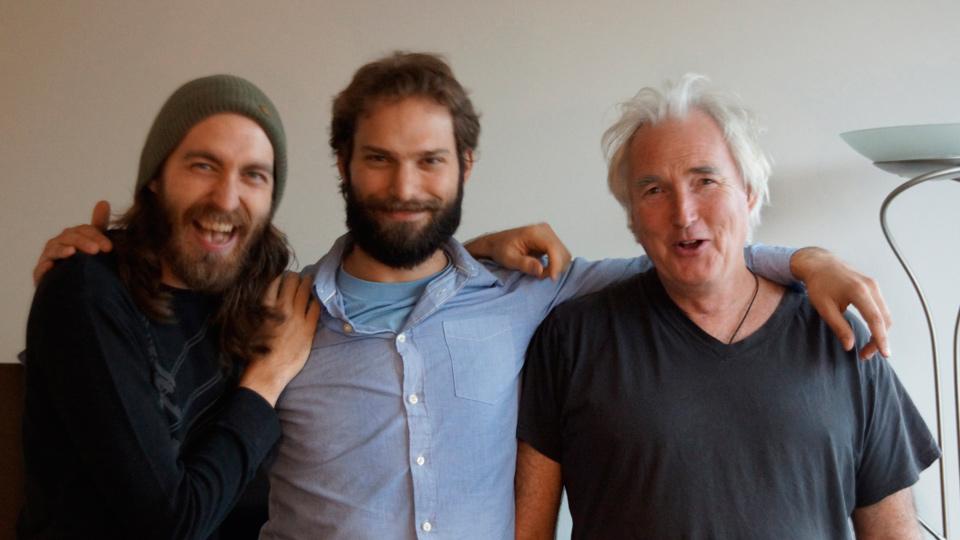 Jarrett Plett and Thomas Beckman with producer Derek Mason (DSC2410 © Anthea Mason)